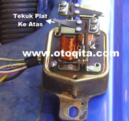Cara Penyetelan tegangan pengisian alternator ke accu dengan ket out