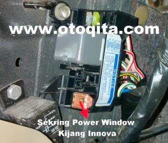 Gambar letak sekring power window kijang Innova bensin