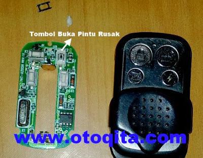Tombol remote mobil rusak