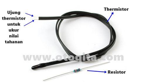 Gambar thermistor dengan resistor