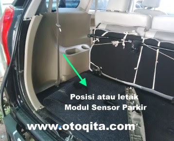 Gambar posisi atau letak sensor parkir All new avanza