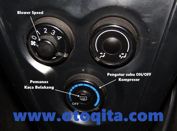 Gambar Tombol atau Saklar Panel AC Toyota New vios Limo 2007