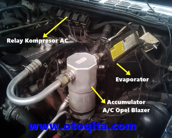 Gambar accumulator ac opel blazer dan letak relay kompresor mobil blazer