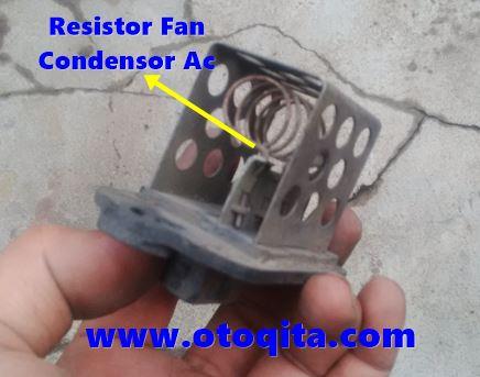 Resistor pengatur kecepatan kipas radiator peugeot 206
