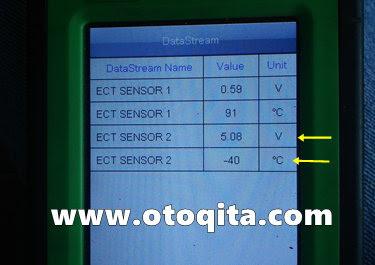 Datastream ECT sensor 2 high voltage