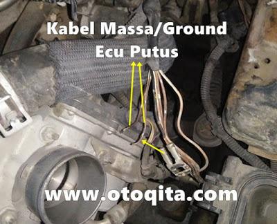 Kabel ground ecu vios limo 2007 pada mesin